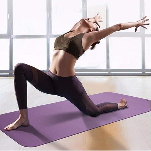 AYHa Estera de yoga suave no resbaladiza para uso en el ...