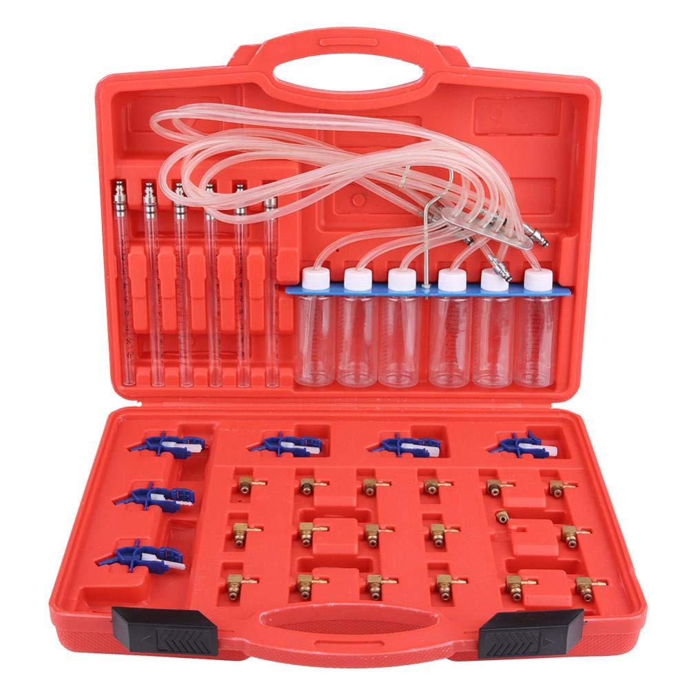 Cilindro diagnostico Common Rail iniettore diesel Cilindro diagnostico Adattatore Common Rail Tester Kit di test linea di alimentazione con scatola di immagazzinaggio Keenso