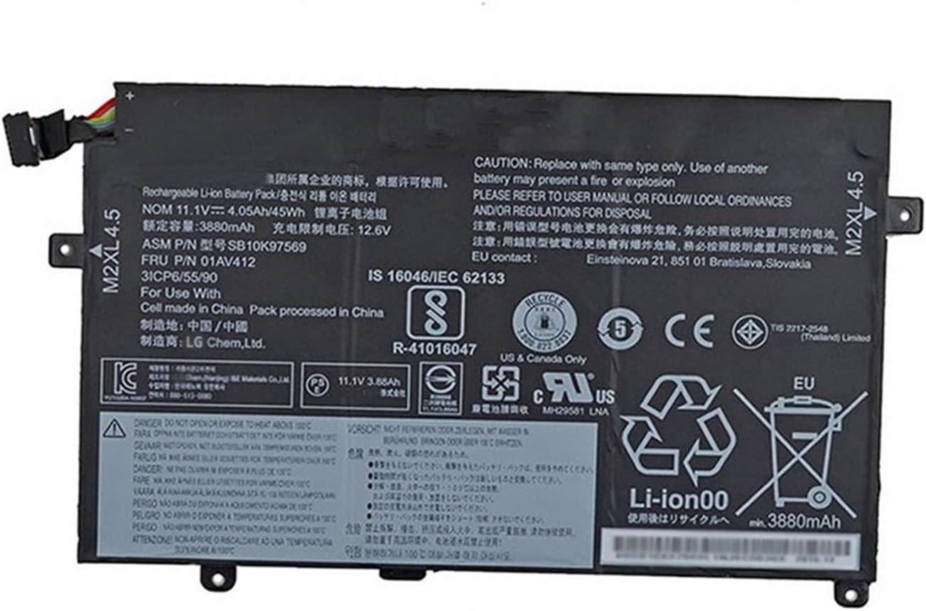 BOWEIRUI SB10K97569 01AV412 (11.1V 45Wh 4050mAh) Laptop Battery Replacement for Lenovo ThinkPad E470 E470C E475 Series Notebook SB10K97568 01AV411 01AV413