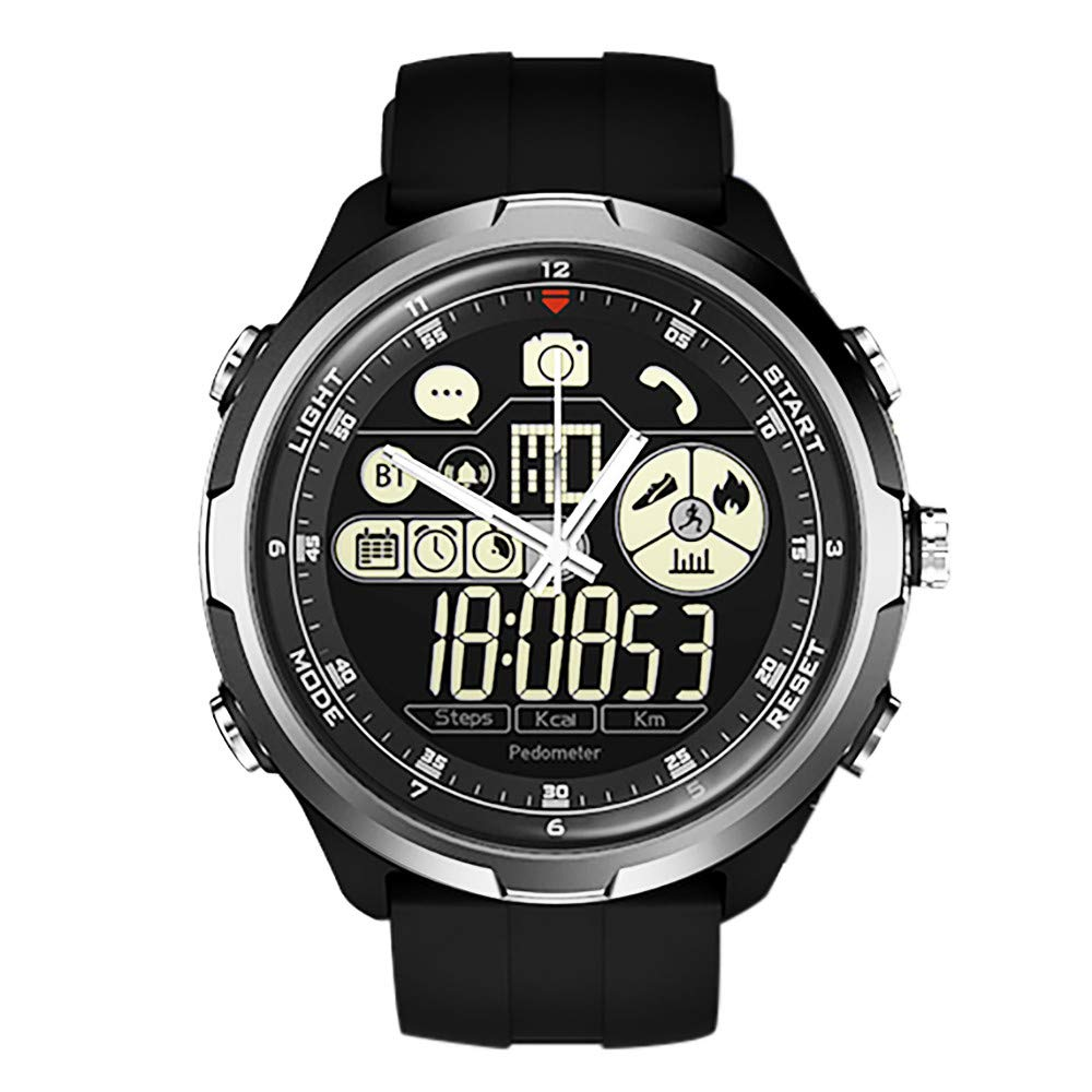 Cywulin Zeblaze Vibe 4 Hybrid Smart Watch Fitness Tracker, IP67 Waterproof Sport Activity Tracking Bracelet Bluetooth Camera iOS Android Men Women Long Battery Life Luminescent Display (Silver)