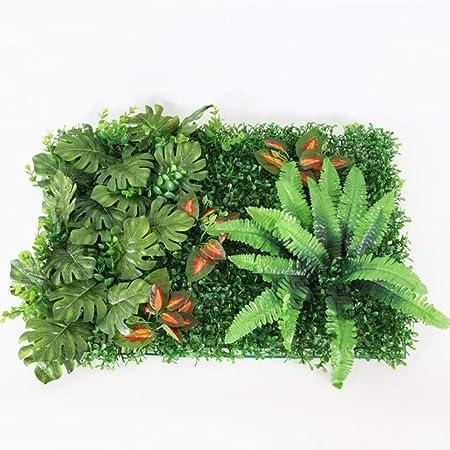 LIMMC Planta de Pared Verde césped Artificial boj seto jardín de jardín Patio Trasero decoración de Fondo simulación Hierba de Milán Pared de Flores al Aire Libre, Pared de Planta E: Amazon.es: