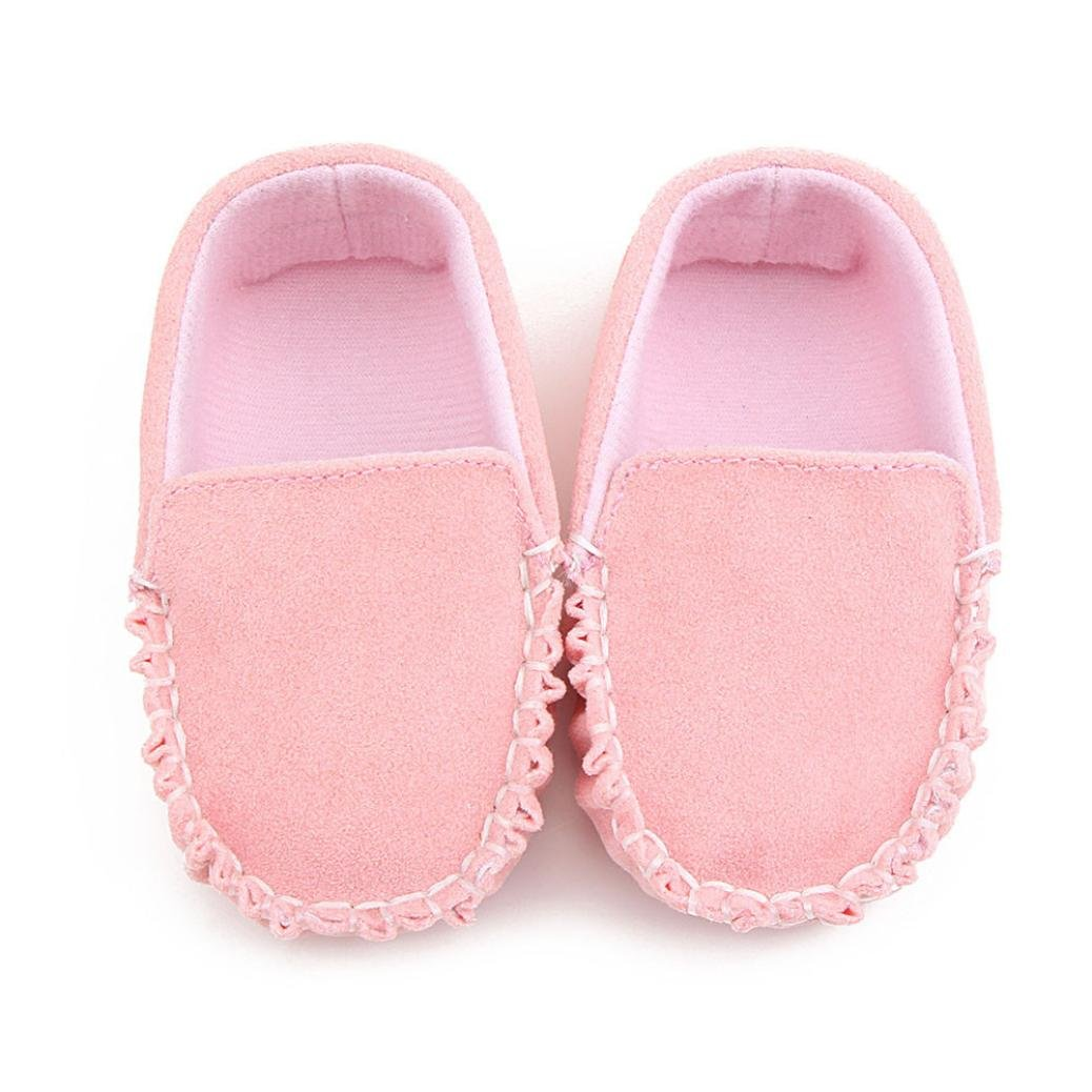 Gotd Newborn Baby Girl Shoes Toddler Double Velour Flats Shoes