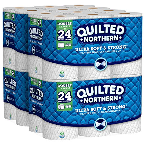 Quilted Northern Ultra Soft & Strong Toilet Paper, 48 Double Rolls, 48 = 96 Regular Rolls, 4 Pack of 12 Rolls (Double Toilet Paper)
