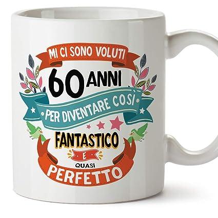 Mugffins Tazza Compleanno 60 Anni Idee Regali Originali Et Divertenti Per Uomo E Donna Per Lui Per Lei Ceramica 350 Ml