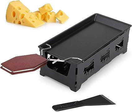 Grill Plate Melter Non-stick Melting Pan Cheese Spatula Baking Tray UK