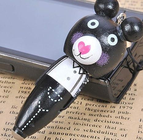 1 Piezas Mini Bolígrafos Dibujos Animados Oso Bolígrafo Pluma Papelería Llavero Decoración por SamGreatWorld