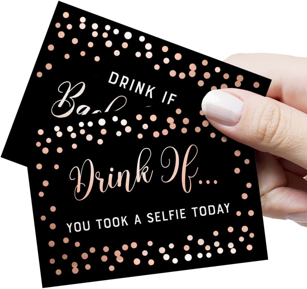 Drink If! Bachelorette Party Game, 26 Unique Cards, Bachelorette Party Ideas, Girls Night Out Activity, Bridal Party Game