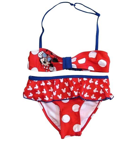 Minnie Mouse - Traje de una Pieza - para niña Blanco y Rojo ...