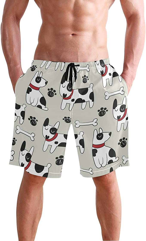 Mens Funny Cute Panda Pattern Shorts Elastic Waist Pockets Lightweight Beach Shorts Boardshort