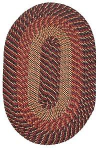 Plymouth Braided Rug In Black Red Gold (5u0027 X 8u0027)