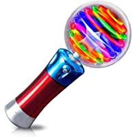 ArtCreativity 7.5 Inch Light Up Magic Ball Toy Wand for Kids - Flashing LED Wand for Boys and Girls - Thrilling Spinning…