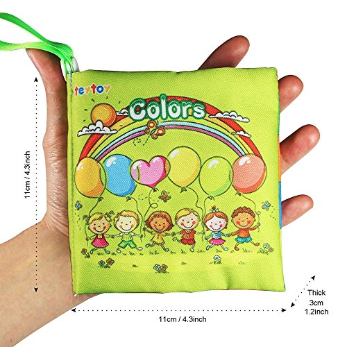 My First Soft Book,TEYTOY 6 PCS Nontoxic Fabric Baby Cloth Books Early Education Toys Activity Crinkle Cloth Book for Toddler, Infants and Kids Perfect for Baby Shower (New Version) by TEYTOY (Image #6)