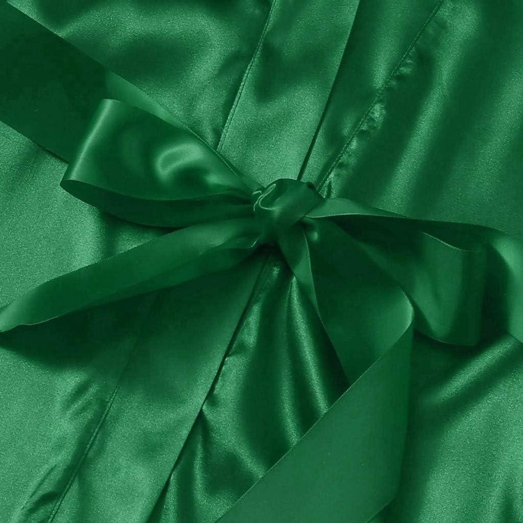 Robe Camisole Shorts Silk Nightdress Lingerie Robes Underwear Sleepwear Atezch/_ Womens Lace 3 Piece Satin Robe Pajama Set