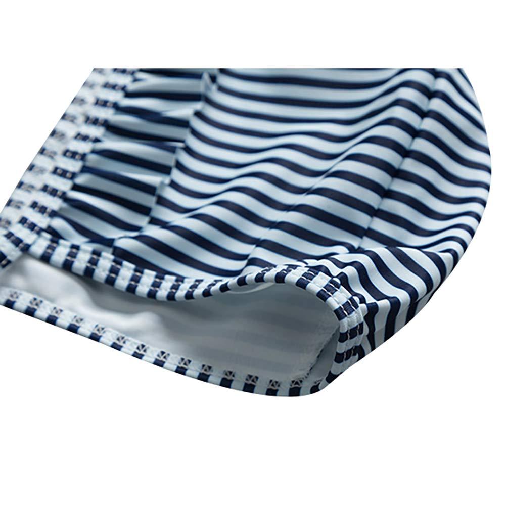 Girl 2-Piece Swimwear Toddlers Princess Cute Flamingo Striped Bikini UV Protection Rashguard Set