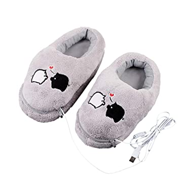 Amazon.com: 1 par de zapatillas de peluche USB para ...