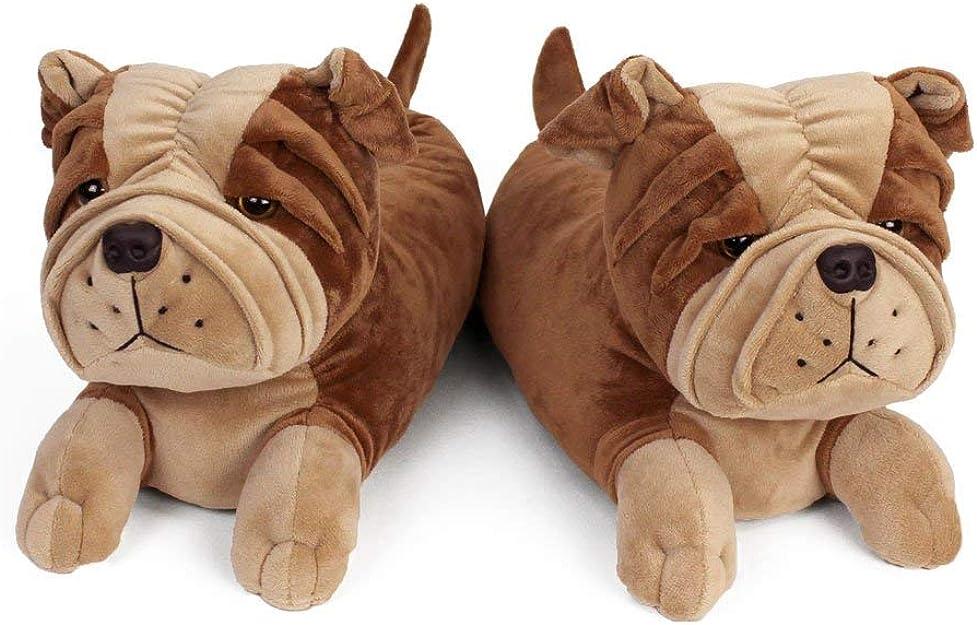 Bulldog Slippers: Amazon.co.uk: Shoes