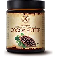 Cocoa Butter Pure & Natural 100gr - Glass Brown Bottle - Burkina Faso - Theobroma Cacao Seed Butter