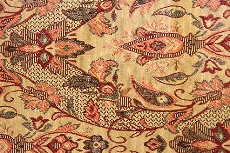 Divano Tessuto Floreale : Royal red tradizionale floreale fiori arazzo morbido tende divano