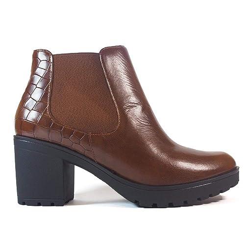Botines Pitillos 2834 Cuero - Color - Cuero, Talla - 41: Amazon.es: Zapatos y complementos