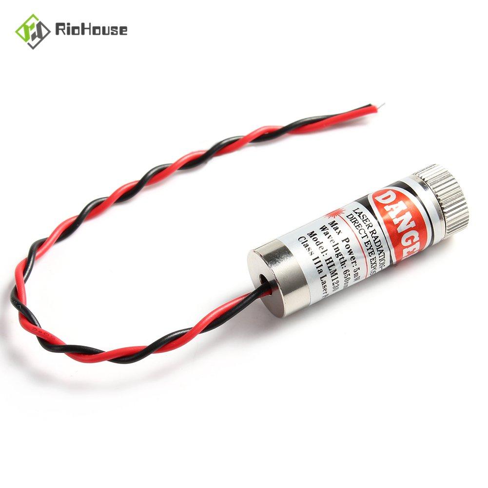 2 Pieza L/áser M/ódulo 650nm 5 mW M/ódulo de L/áser Enfocable LED rojo Laser Generador 12x35mm l/áser de l/ínea
