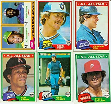 1981 Topps Baseball Complete Near Mint 726 Card Set Features Rookie Cards Of Tim Raines Fernando Valenzuela Kirk Gibson And Others Plus Rickey