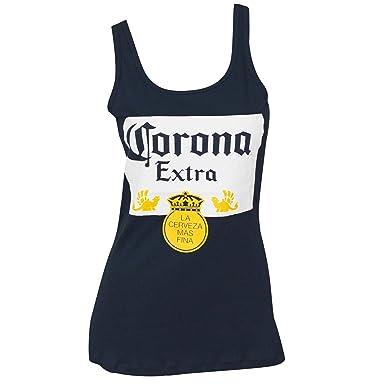 87651196519ba7 Amazon.com  Women s Corona Label Tank Top  Clothing