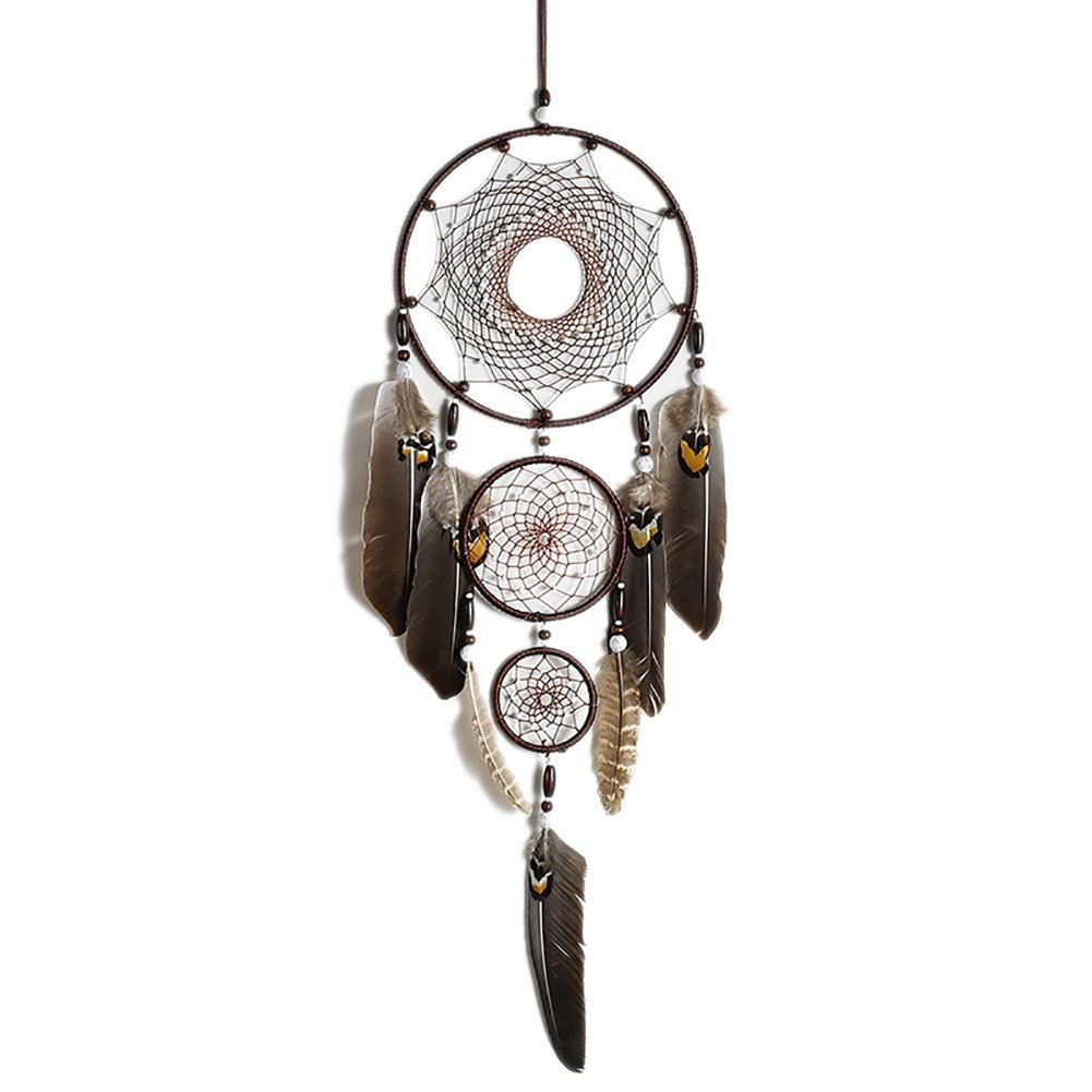 Loveble Dream Catchers Indian Style Handmade Wood Beads Feather Dreamcatcher For Car Kids Bed Room Wall Hanging Decoration