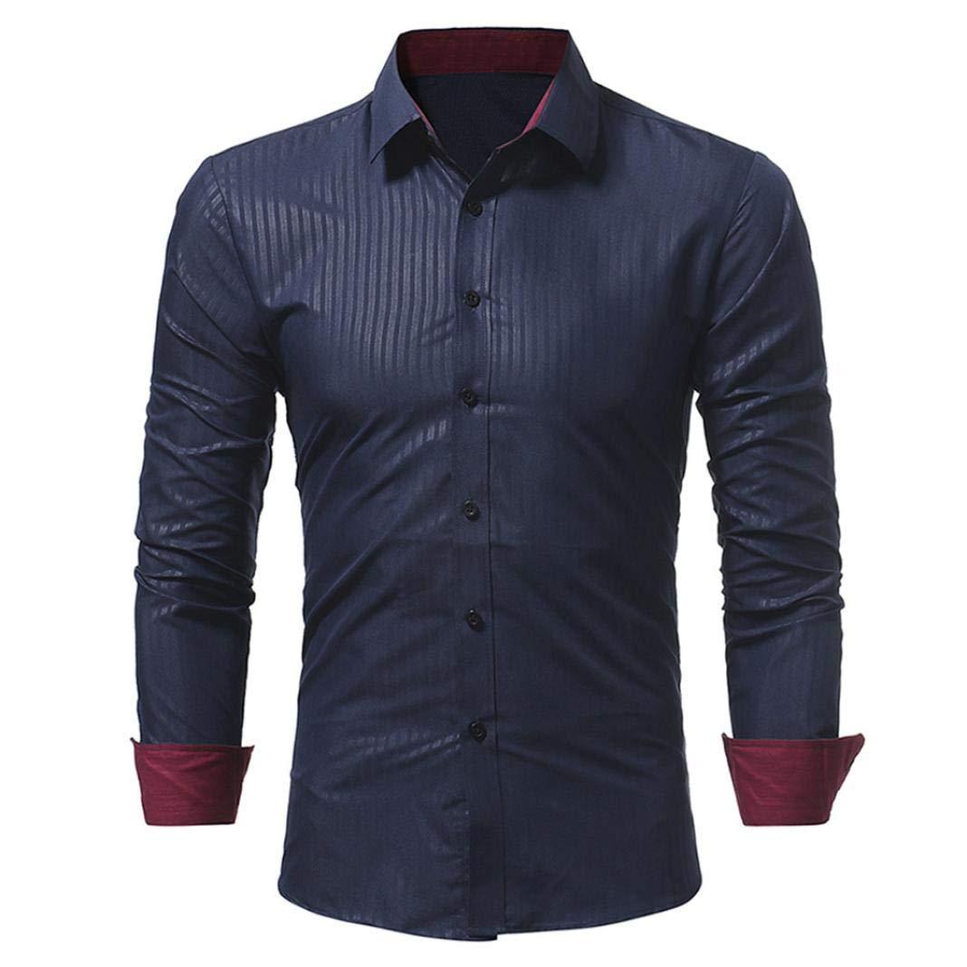 AmazingDays Camisetas Fortnite Hombre Polo Camisa De Hombre Camisa De Manga Larga Casual Masculina De Rayas De Colores SóLidos Amaizngdays-BC1