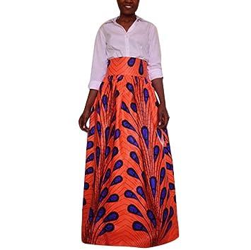 SMILEQ - Vestido de gasa con impresión de Dashiki para mujer, de ...