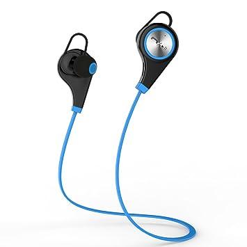 Kans Bluetooth 4,0 inalámbrico auriculares deportivos in-Ear auriculares estéreo auriculares postulas para iPhone y smartphone Android - azul: Amazon.es: ...