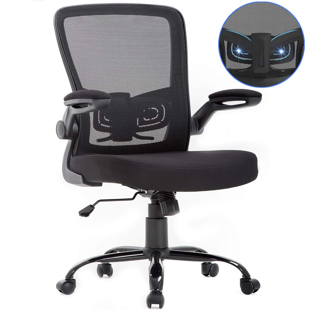 Best Office Chair For Back >> Bestoffice Office Chair Mesh Desk Chair Lumbar Support Desk Chair Ergonomic Adjustable Computer Chair Swivel Ergonomic Task Chair With Flip Up Armrest