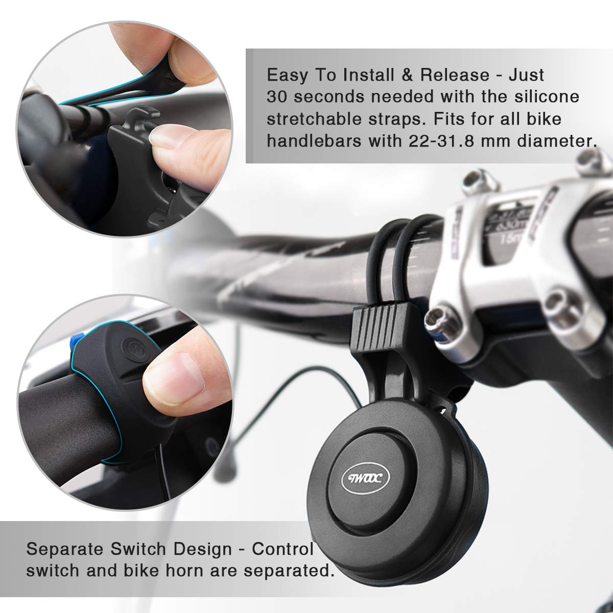 Amazon.com: Coolrunner Mini Electric Bike Horn, Electronic ...