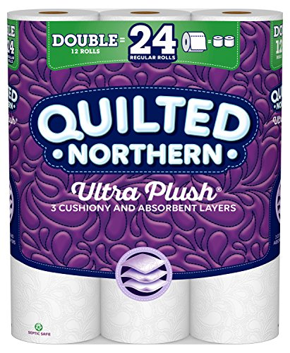 Quilted Northern Ultra Plush Toilet Paper, 12 Double Rolls, 154 3-Ply Sheets Per Roll (Toilet Paper Northern)