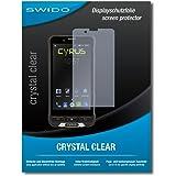 "2 x SWIDO® Displayschutzfolie Cyrus CS35 Schutzfolie Folie ""CrystalClear"" unsichtbar"