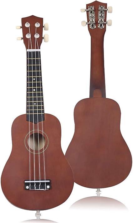Global Supplies - Guitarra para ukelele acústico (53 cm, 4 cuerdas ...