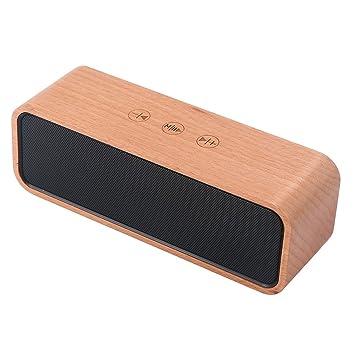 Rimeu Drahtlos Bluetooth Lautsprecher 10w Tragbarer Holz Stereo
