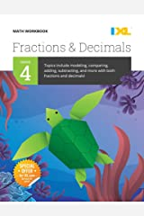 IXL | Grade 4 Fractions & Decimals Math Workbook | Fun Math Practice for Ages 9-10, 112 pgs Paperback