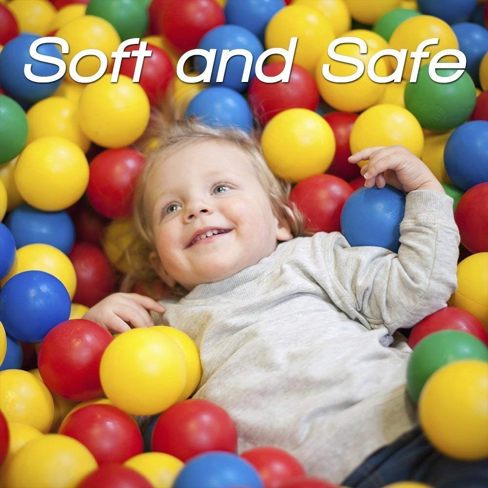 No Sharp Edges Phthalate /& BPA Free Certified Non Toxic Play Tents /& Tunnels Indoor /& Outdoor Playz 50 Soft Plastic Mini Play Balls w// 8 Vibrant Colors Crush Proof Use in Baby Toddler Ball Pit