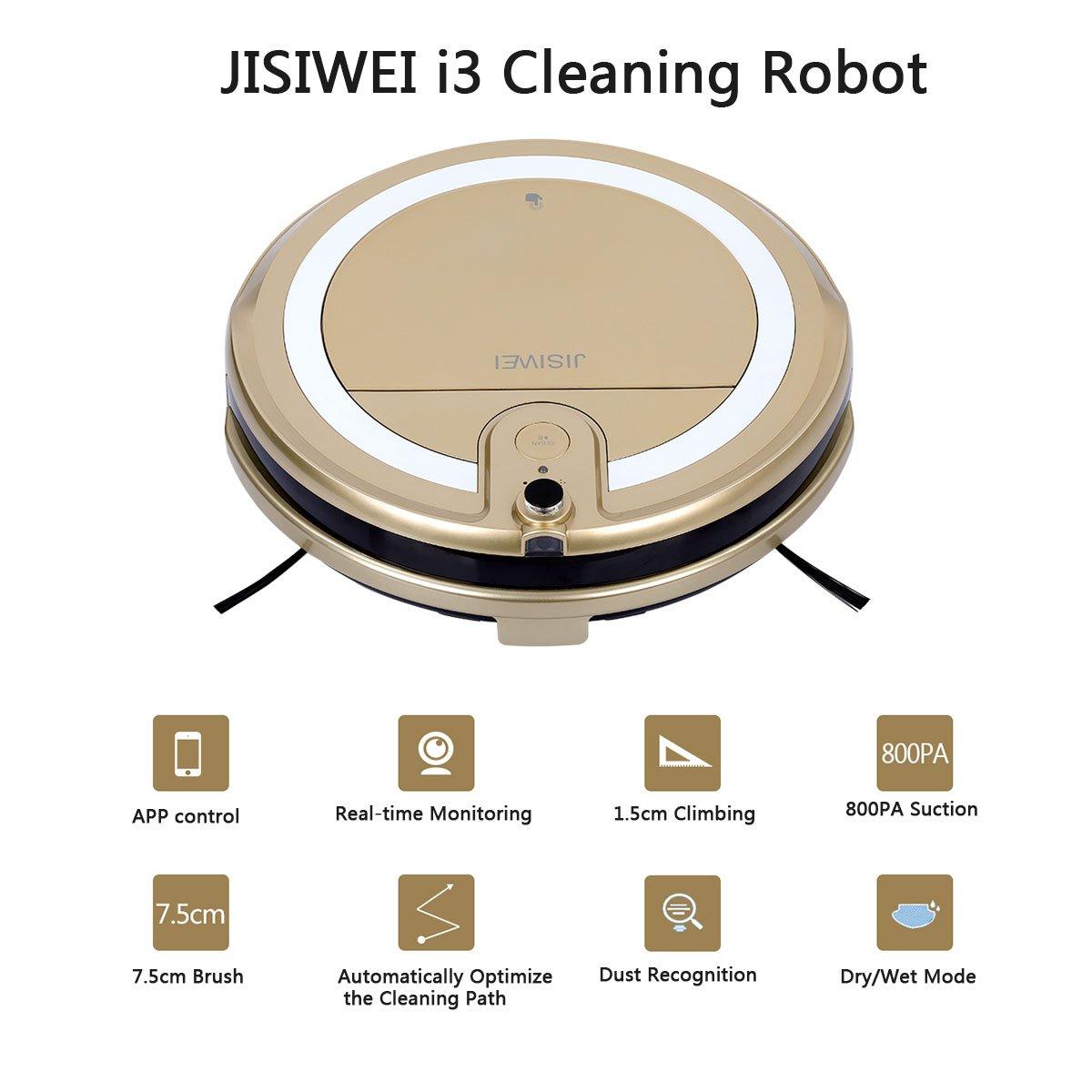 Jisiwei i3 - Robot Aspirador Controle por Movil localización ...