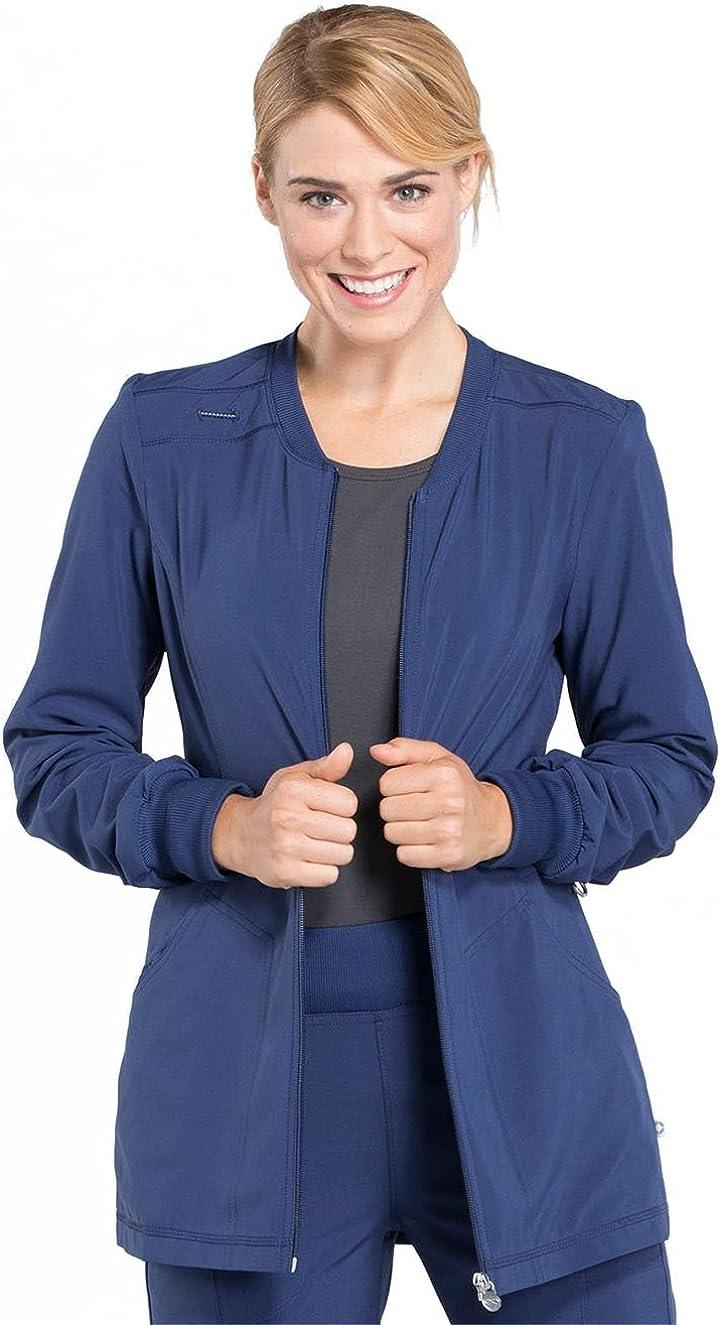 CHEROKEE Infinity Zip Front Warm-Up Scrub Jacket