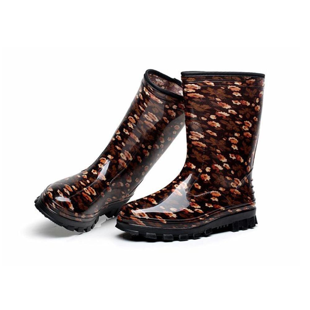 SIHUINIANHUA In In In der Tube Lady Regenstiefel Antirutsch-Regenstiefel Wasserdichte Schuhe 4 38 0f7072
