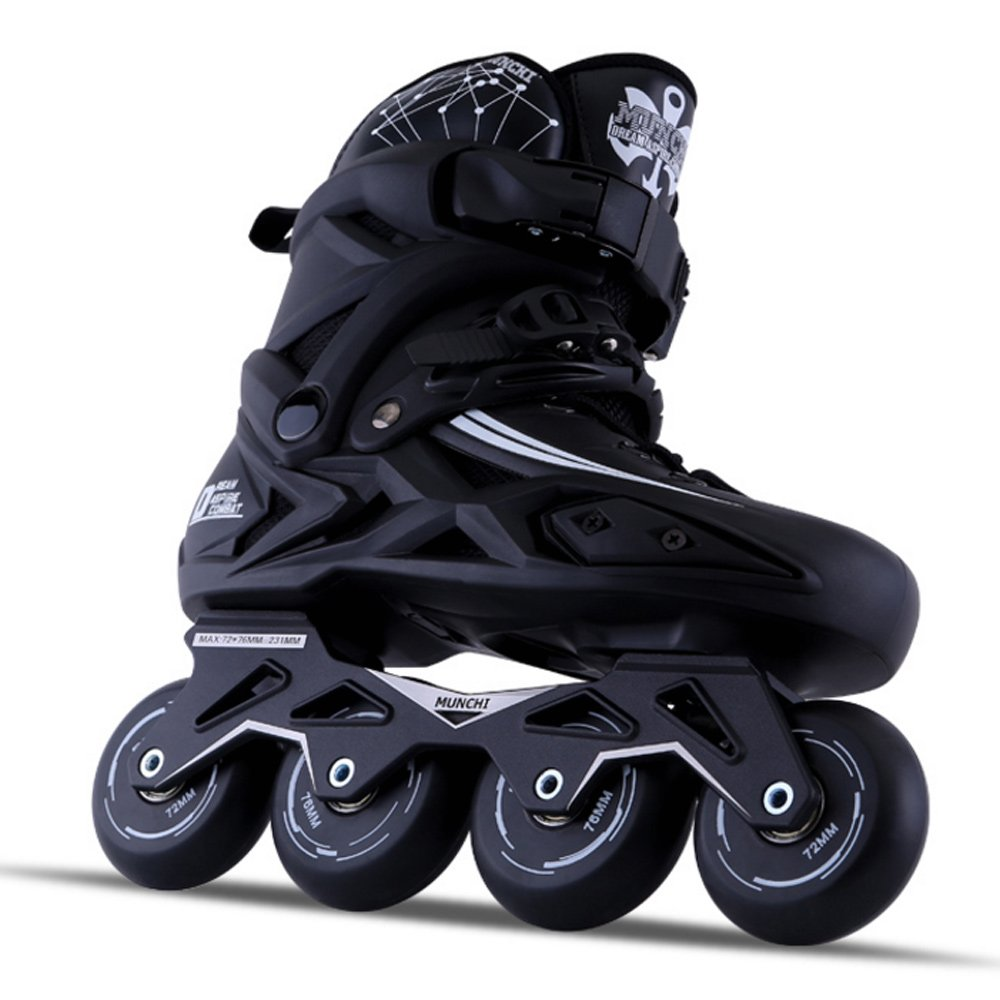 Sunkini Adults Men's Professional Inline Skate Shoes Freestyle Women Skating Boots Outdoor Roller Skates with Protector Gear Black (Size : 42) by Sunkini (Image #3)