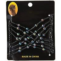 Hårkammar med elastiskt band, dubbel kam för tjock, flexibel fjärilhårkam Magic Stretchy Hairpin för kvinnor Flickor…