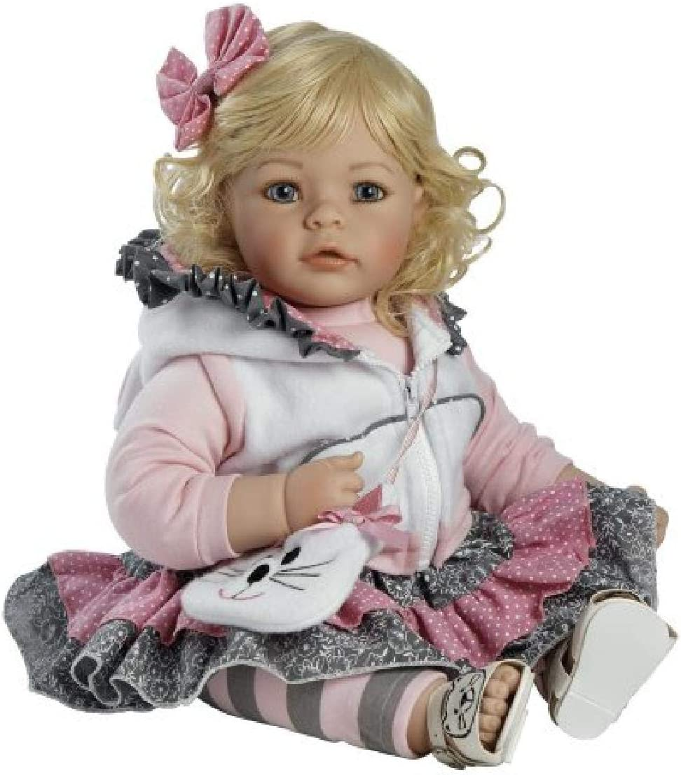Huggable Vinyl Cuddly Soft Body Toy The Cats Meow Adora Toddler Doll 20 Lifelike Realistic Weighted Doll Gift Set for Children 6