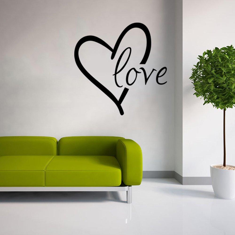 Lamour de Stonges est autour de nous autocollant dart de mur de vinyle dautocollant de mur pour la d/écoration /à la maison