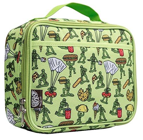 Lone Cone - LONE CONE Kids' Insulated Fabric Lunchbox in Fun Patterns, Food Fighters (Army Men)
