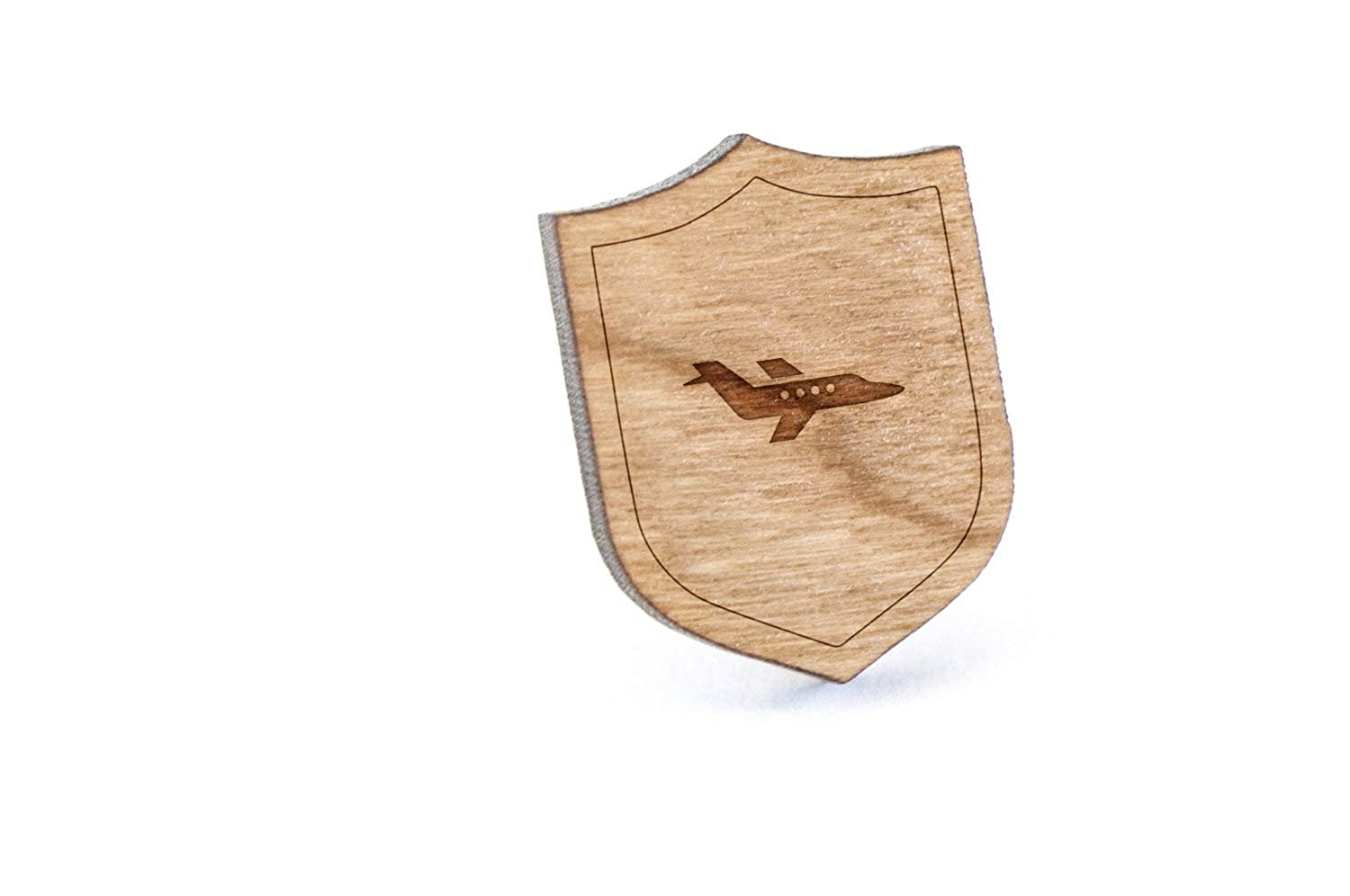 Private Airplane Lapel Pin, Wooden Pin And Tie Tack | Rustic And Minimalistic Groomsmen Gifts And Wedding Accessories
