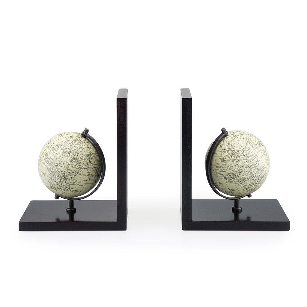 Balvi Serre-Livres Mappamondo avec 2 Globes terrestres Bois Balvi Gifts S.L.