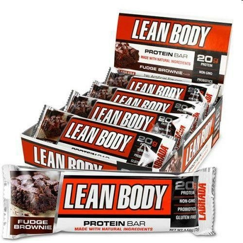 Labrada Nutrition – Lean Body Protein Bars with Probiotics, Non-GMO, Gluten Free, All-Natural Protein Bar Made with Natural Ingredients, Fudge Brownie, 12 Bars