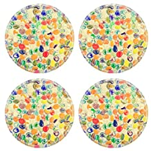 Liili Round Coasters Colorful pebble stone on the wall 28704343